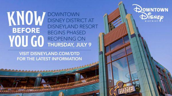 Downtown Disney reopening procedures