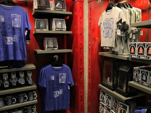 merchandise at Droid Depot