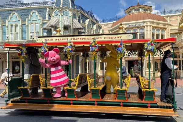 Pooh Friends on the Main Street Trolley