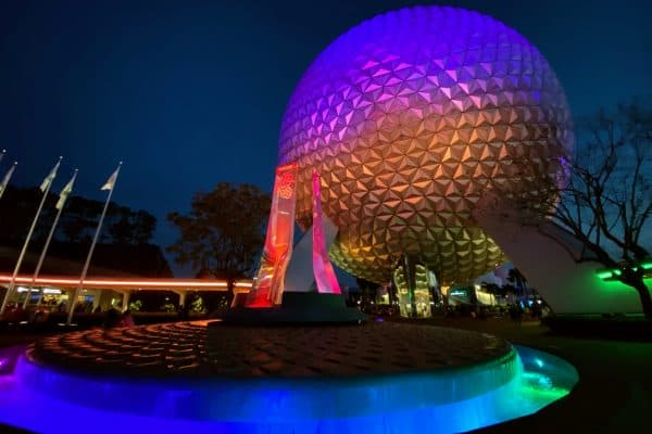 New Spaceship Earth colors