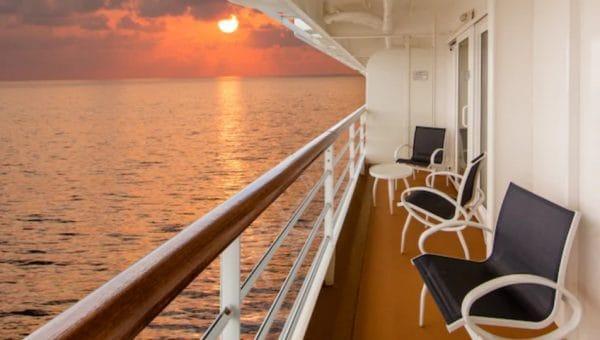 Disney Cruise Line verandah view from Concierge room