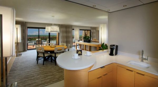 Club level bedroom suite at Contemporary