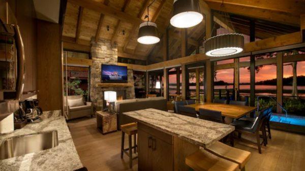 Copper Creek Cabin kitchen area