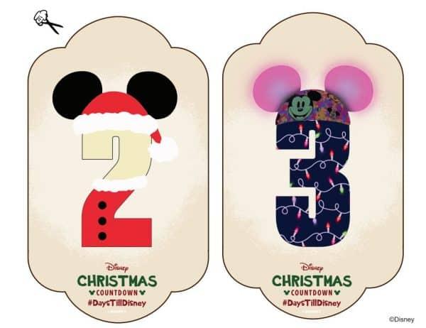 Disney holiday countdown