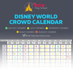2018 Disney World crowd calendar
