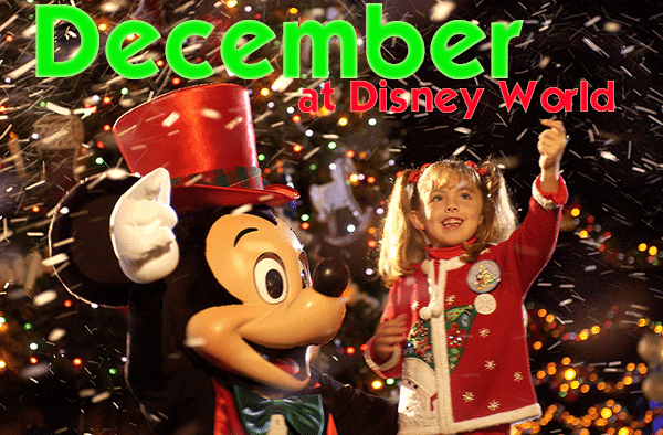 decemberheader - December 2018 Disney World Crowd Calendar