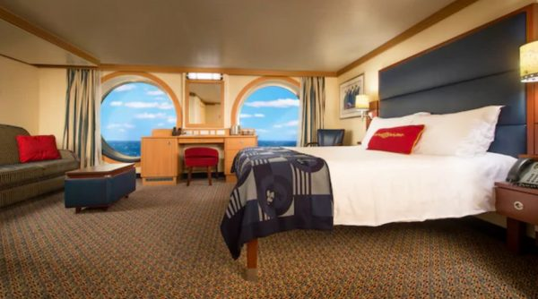 Disney Fantasy wheelchair accessible family oceanview stateroom
