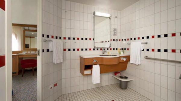 Disney Fantasy wheelchair accessible stateroom bathroom