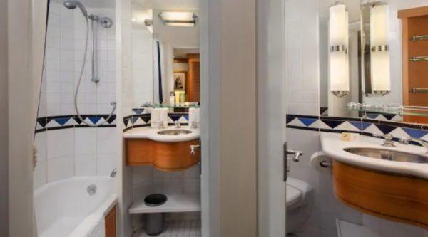 Disney Magic Inside Stateroom split bathroom