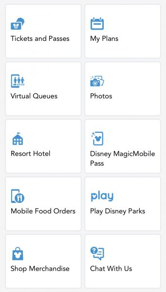 disney magicmobile main menu