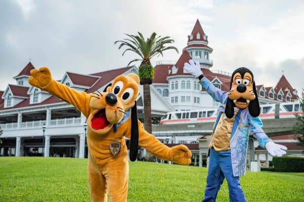 pluto and goofy 50th anniversary costumes