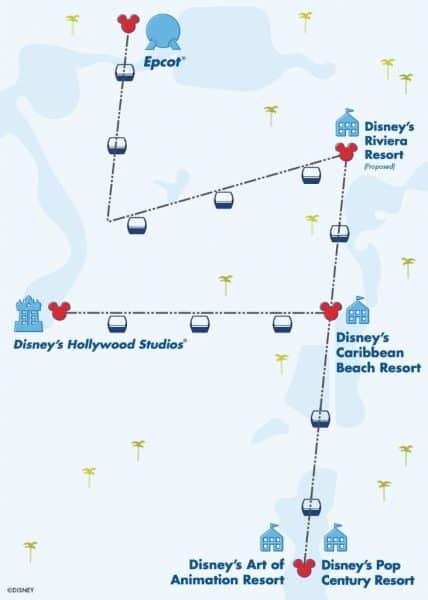 map of disney skyliner