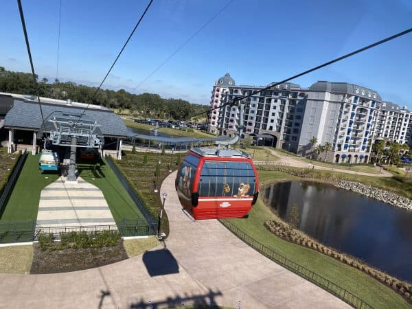 disney skyliner at riviera resort