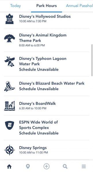 Disney Springs hours