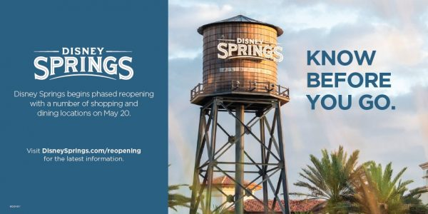 Disney Springs phased reopening on May 20