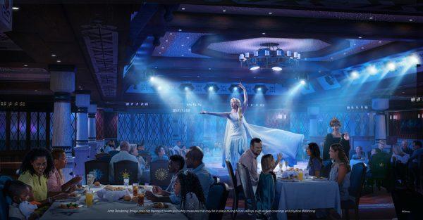 disney wish frozen dining show