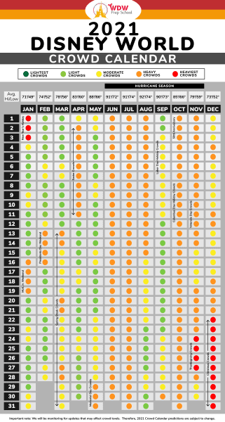 Crowd Calendar graphic 2021