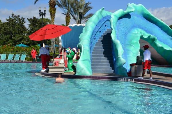 Pool slide at Port Orleans French Quarter