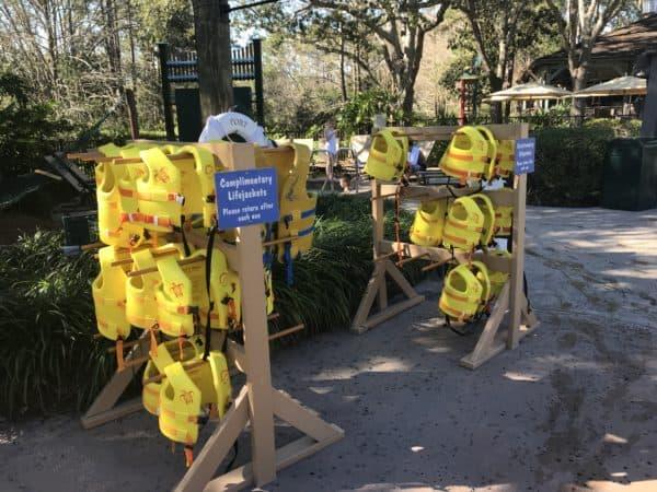 Disney World resort pool life jacket stand