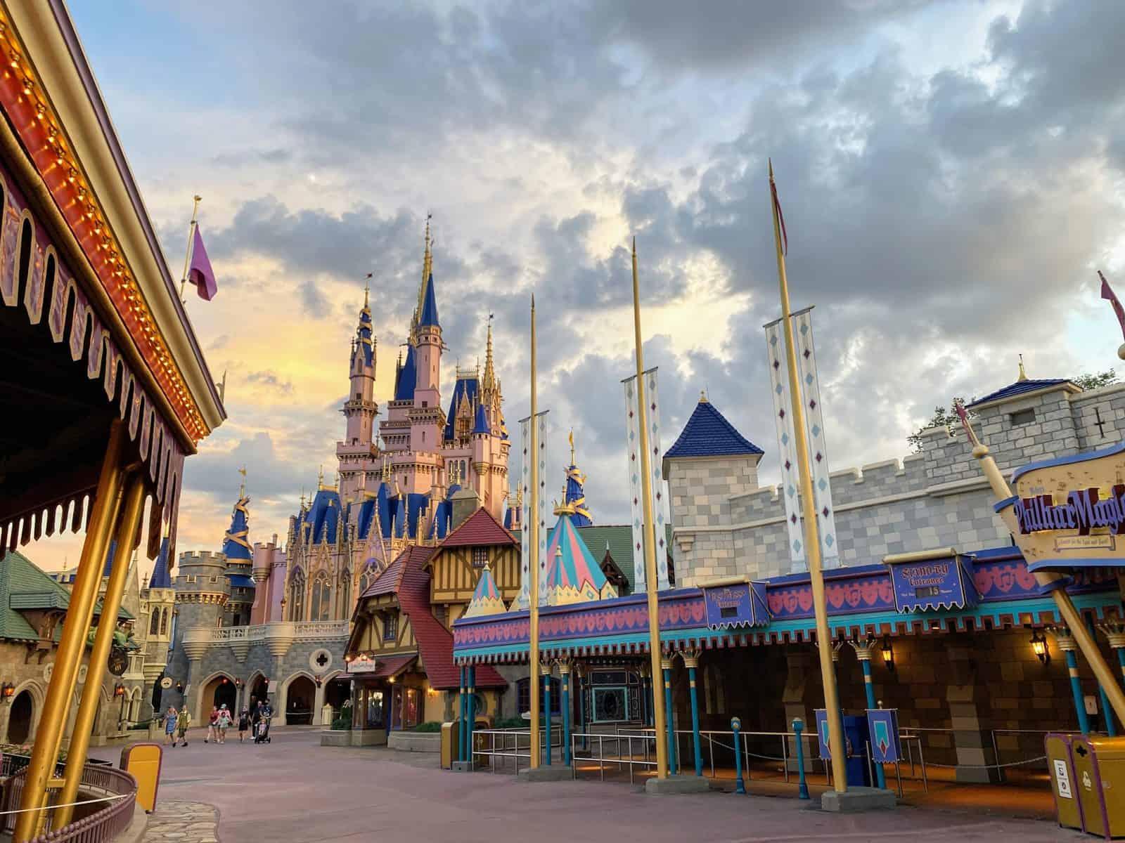 Fantasyland Cinderella Castle from the back