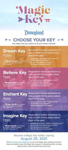 disneyland magic key - tiers