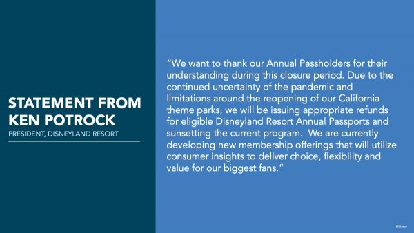 Disneyland Annual Passes discontinued