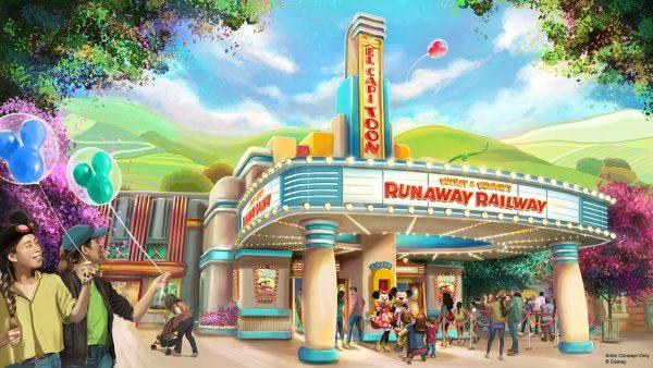 Mickey & Minnie's Runaway Railway in Disneyland