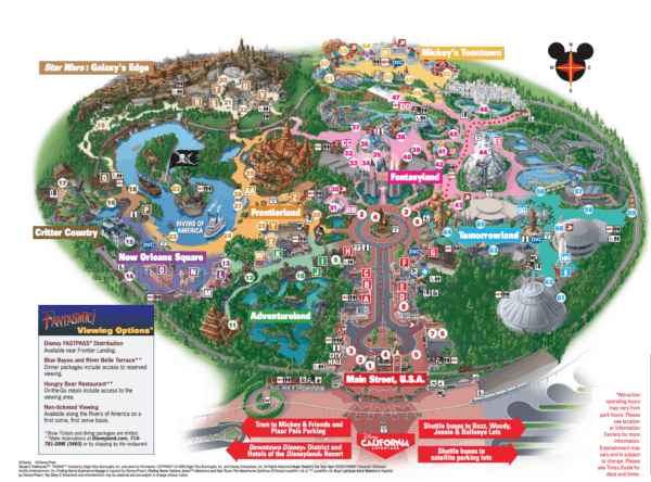 Disneyland Park map