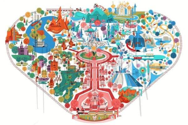 hayden evens art disney map