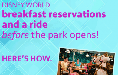 disneyworldbreakfast 1 390x250 - Disney World breakfast reservations and a ride - before the park opens!