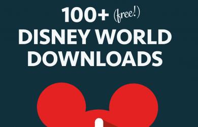 disneyworlddownloads 390x250 - 100+ free downloads for your Disney World binder
