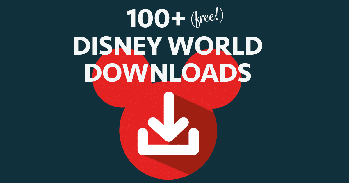 disney world binder builder 100 free downloads