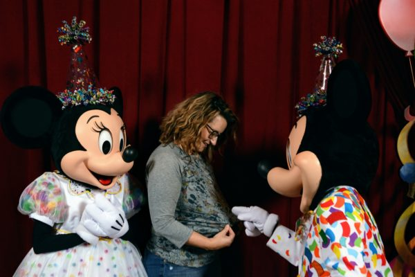 Meet Mickey and Minnie in Surprise Celebration outfits
