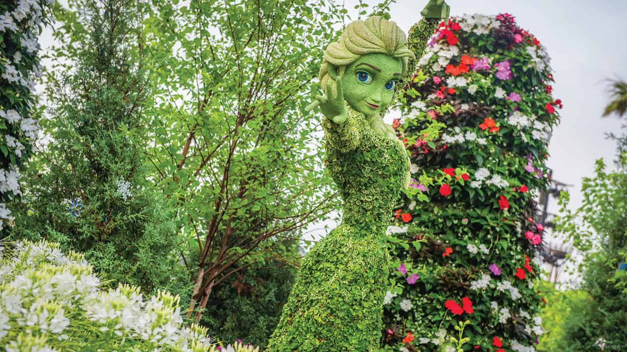 Elsa topiary at Flower and Garden