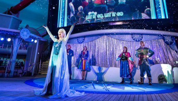 Photo of Frozen Deck Party on Disney Wonder