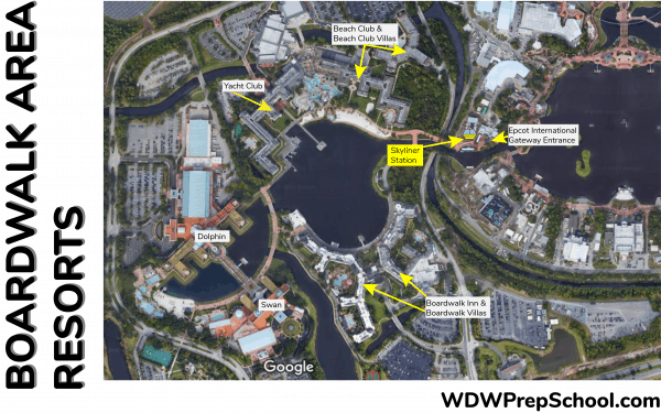 Epcot Area Resort map Skyliner