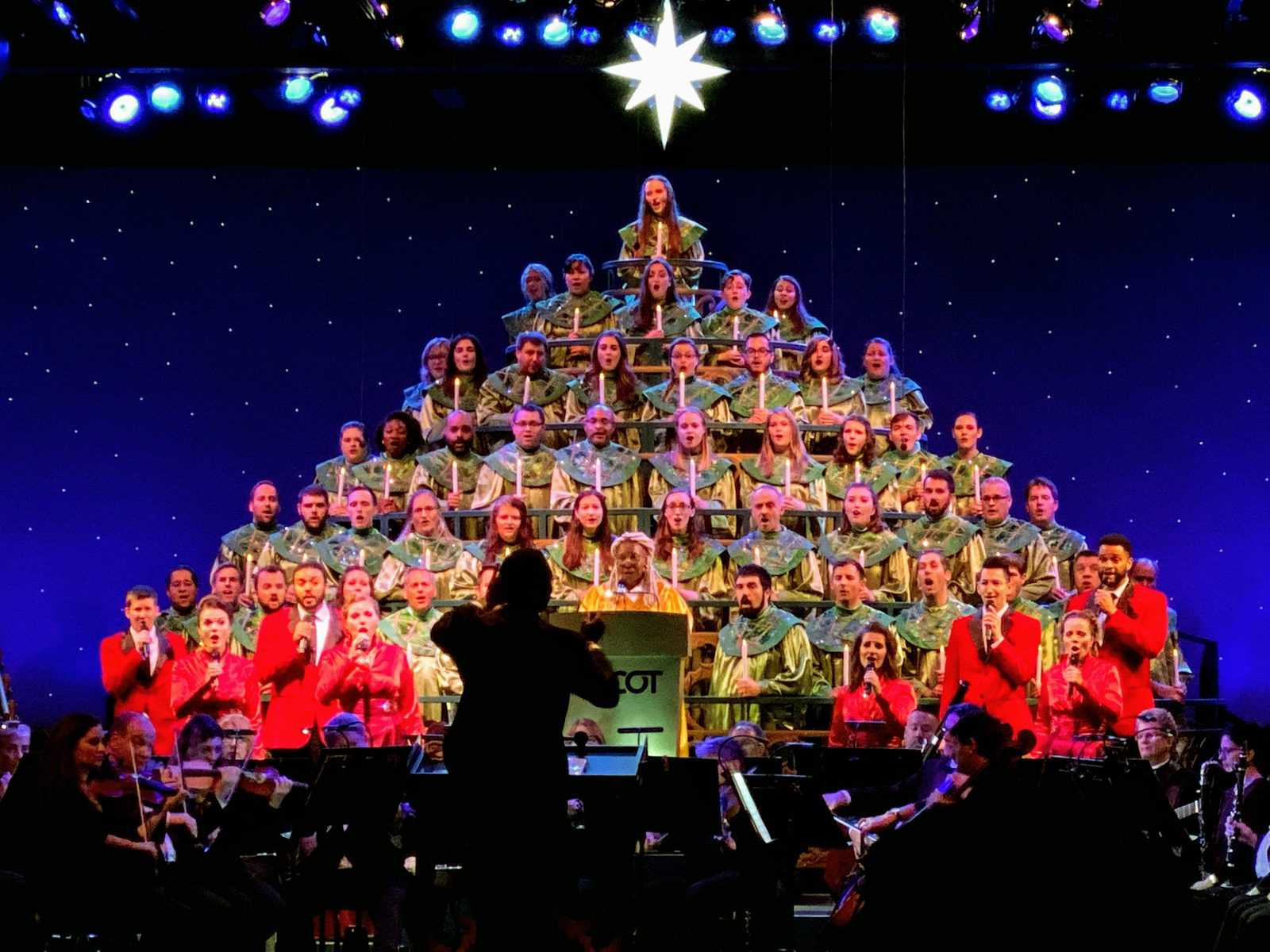 Candlelight processional at epcot festival of the holidays