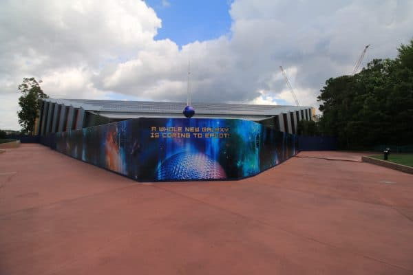 Guardians of the Galaxy epcot construction photo update may 2018