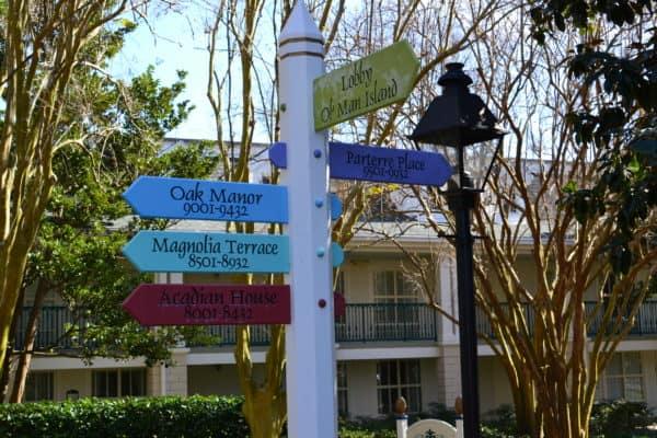Port Orleans Riverside signage