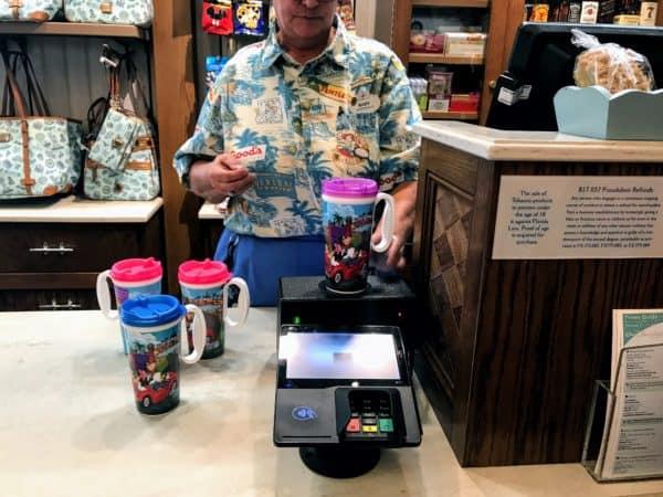 Activating a Disney Resort refillable mug
