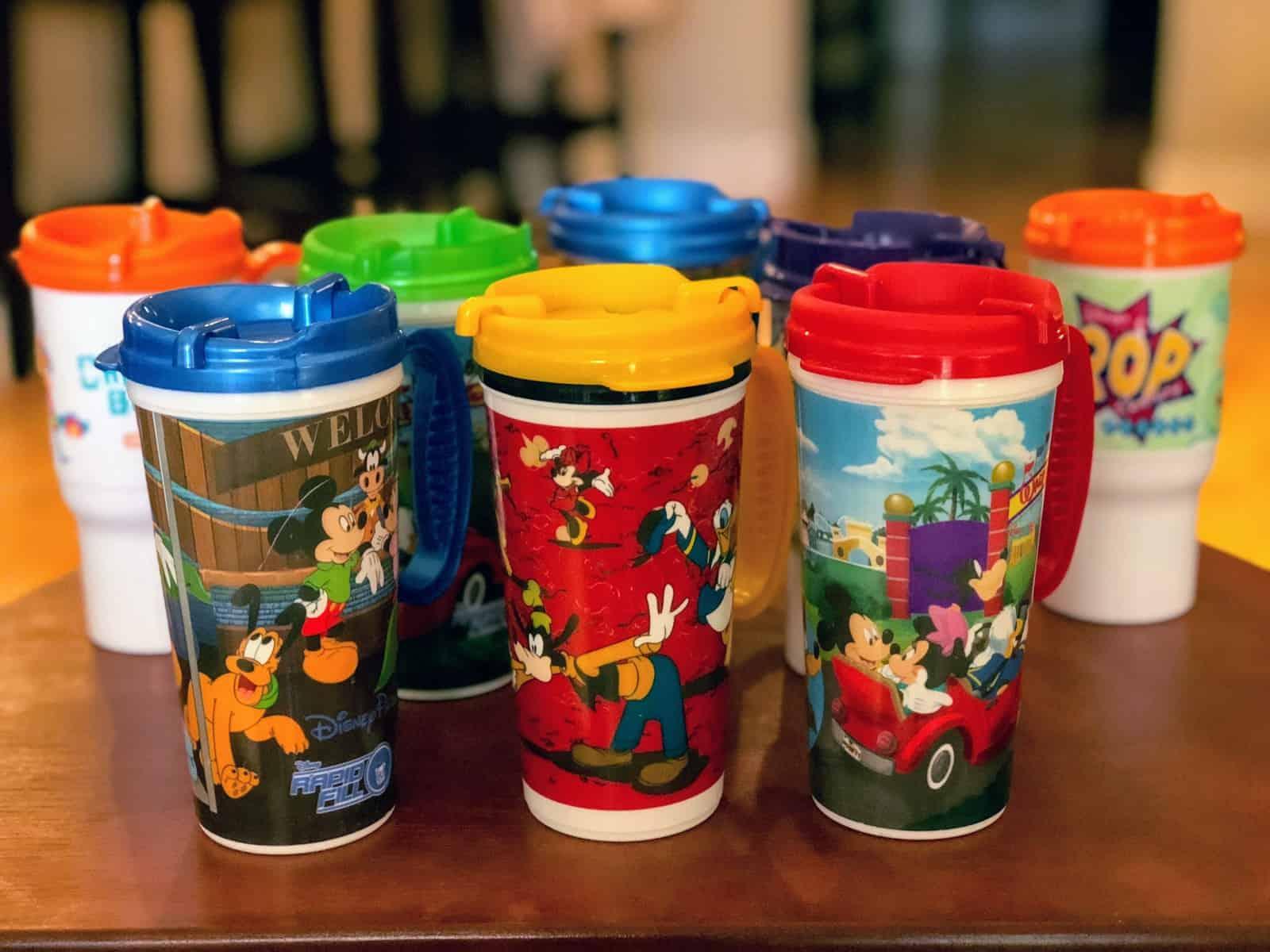 Disney refillable mugs
