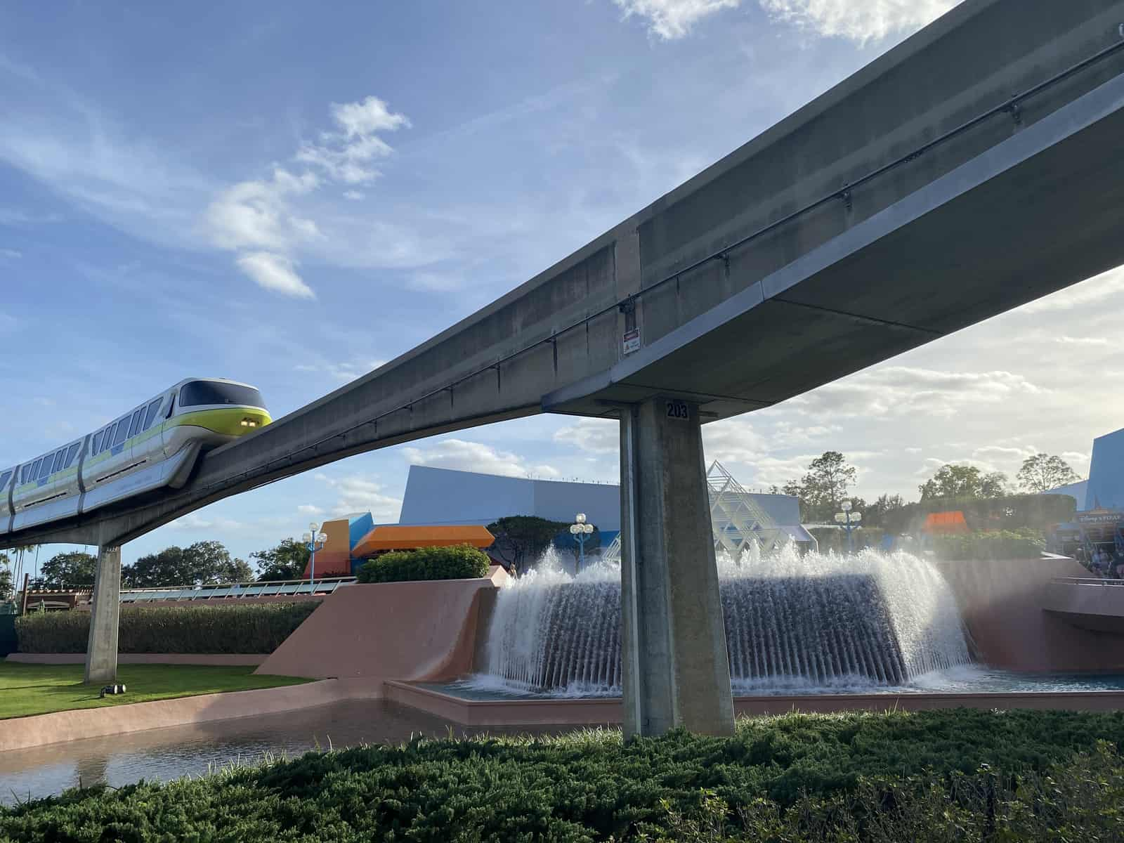 Epcot with the monorail
