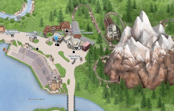 expedition everest location on map