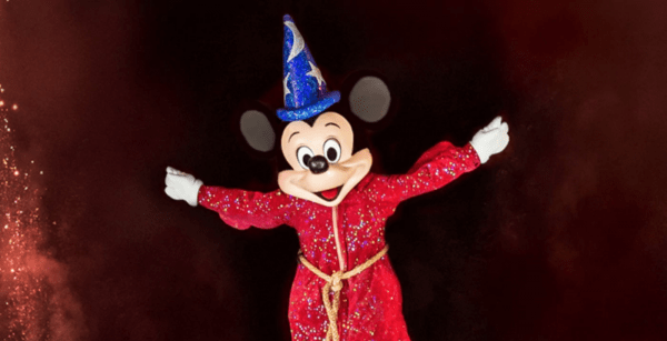Sorcerer Mickey in Fantasmic at Disneyland