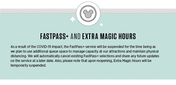 FastPass+ and Extra Magic Hours for Walt Disney World's reopening