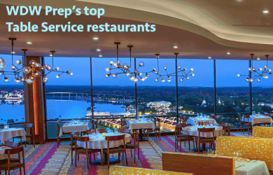 WDW Prep's favorite Table Service restaurants