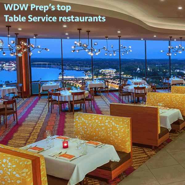 Wdw Prep S Top Table Service Restaurants At Disney World