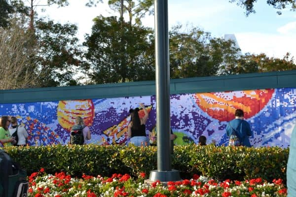 Epcot's Festival of Arts wall mural