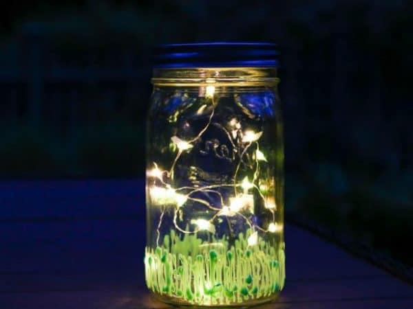 diy lightning bugs in a jar craft