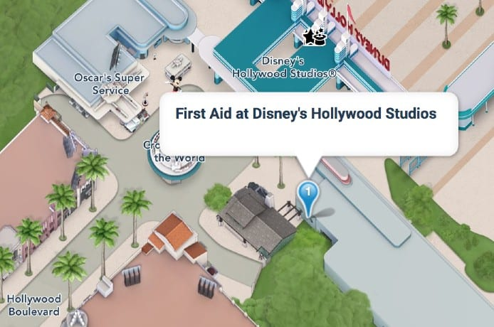 first aid at hollywood studios